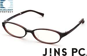 【JINS PC オーバル クリアレンズ】PC(ディスプレイ)専用メガネ (度なし) (DARK BROWN)