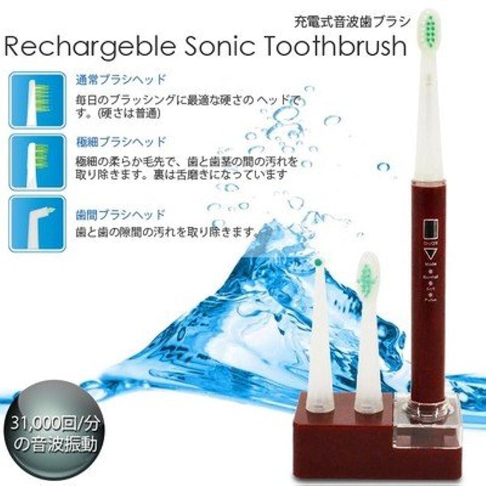 ブーストアリスナラーバー美容?衛生/充電式/音波歯ブラシ/3種類/ブラシ付属/RST-2062/赤