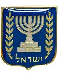 イスラエル状態BlazonエナメルバッジラペルピンイスラエルMenorahオリーブブランチJudaica