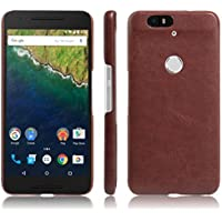 Nexus 6P Case, Fettion [Thin Fit] Premium PU Leather Slim Phone Case Back Cover for Huawei Google Nexus 6P / 6 2nd Gen 2015 Smartphone (Leather Cover Brown) [並行輸入品]