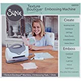 Sizzix 660950 Texture Boutique Embossing Machine, White and Gray by Sizzix