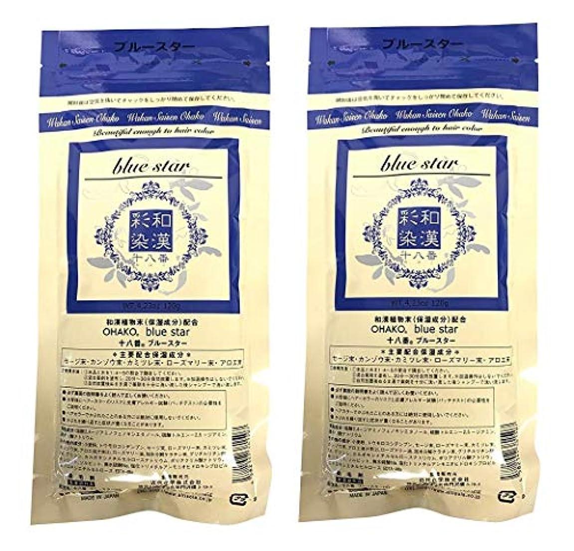 流産使用法準備する【2個セット】グランデックス 和漢彩染 十八番 120g ブルースター