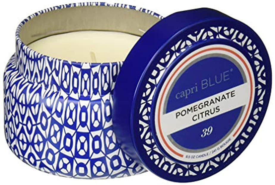 文房具ごみ速度Aspen Bay 9 oz Travel Tin - Pomegranate Citrus by Aspen Bay