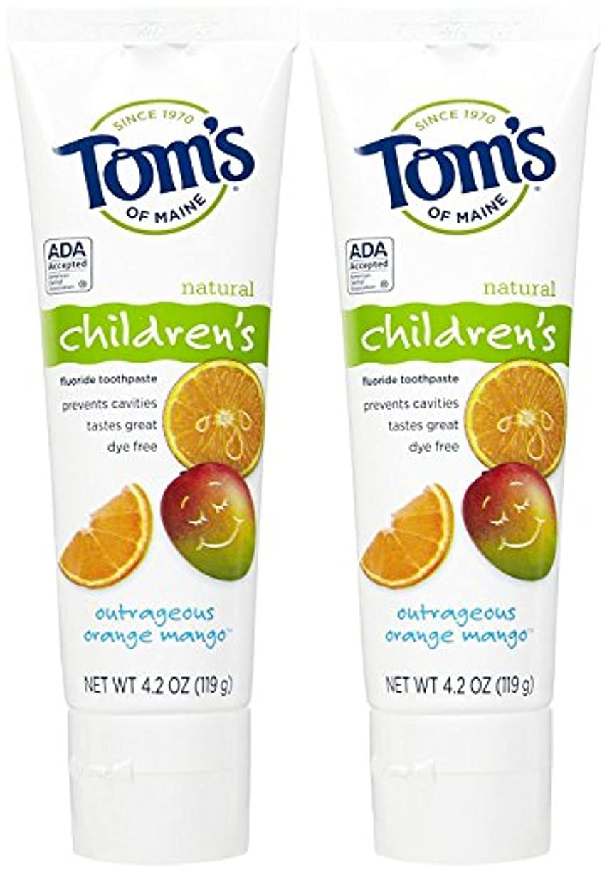 成り立つ入植者破滅的なTom's of Maine Anticavity Fluoride Children's Toothpaste, Outrageous Orange-Mango - 4.2 oz - 2 pk by Tom's of...