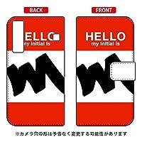 [Qua phone KYV37/au専用] Coverfull スマートフォンケース 手帳型スマートフォンケース Cf LTD ハロー イニシャル アルファベット M (レッド) AKYV37-IJTC-401-MDA1
