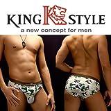 King Style 網ポケット付パンツ 迷彩柄(ブリーフ上向き仕様) グリーン Mサイズ