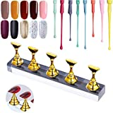 Kalolary Nail Stand Holder Set, Strong Magnetic Nail Holders Acrylic Base Professional Nail Art DIY Tools for Art Salon DIY a