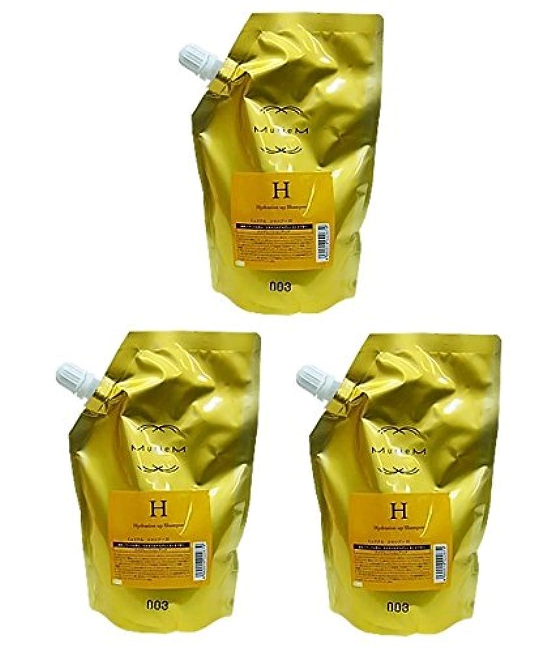 窒素リーガンメディア【X3個セット】 ナンバースリー ミュリアム ゴールド シャンプー H 500ml 詰替え用
