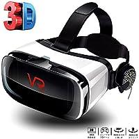 MiaoJiea 3D VR ゴーグル ヘッドセット•メガネ 超3D映像効果 軽量 4.5~6.3インチスマホ対応