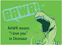 "Rawr Dinosaurs MAGNET - 3.5"" x 2.5"" - Heavy Duty Magnet Made From High Quality Materials"