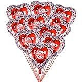 BESTOYARD ハート風船 ハート型アルミバルーン 結婚式 バレンタインデー パーティー イベント 飾り付け 10個セット