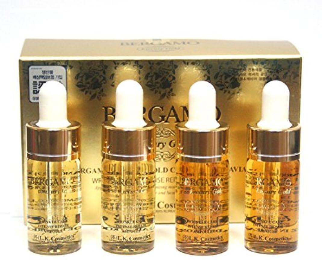 効果的に地区バランスのとれた[ベルガモ] Bergamo/ラグジュアリーゴールドコラーゲン&キャビアリンクルケアアンプルセット13ml * 4ea/Luxury Gold Collagen & Caviar Wrinkle Care Repair...