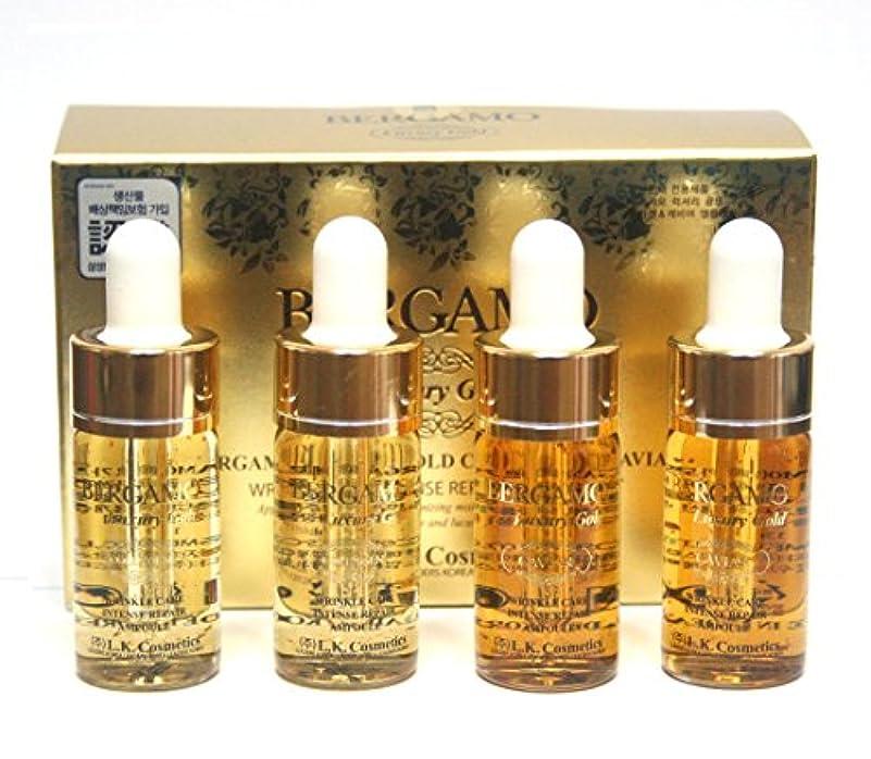 階段緩める共産主義[ベルガモ] Bergamo/ラグジュアリーゴールドコラーゲン&キャビアリンクルケアアンプルセット13ml * 4ea/Luxury Gold Collagen & Caviar Wrinkle Care Repair...