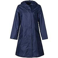 QZUnique Women's Packable Waterproof Rain Jacket Poncho Raincoat with Hood