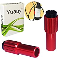 Yuauy 2 PCs Red Mini Inline Bicycle Cable Adjusters w/End Caps [並行輸入品]