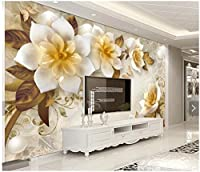 Yosot カスタムの欧州 3d の壁紙の壁画、バーリビングルームベッドルームのテレビの背景の家の装飾の壁紙の椿の花のフレスコ画-450cmx300cm
