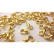 【HARU雑貨】ゴールド カニカン 約35個 10mm×6mm/アクセサリー パーツ