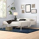 Zinus Geraldine Metal Queen Bed Frame White | Steel Headboard and Footboard | Strong Steel Slats