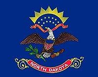 North Dakota 4パックの4インチのワイド州旗ステッカーデカールウィンドウノートパソコンコンピュータ