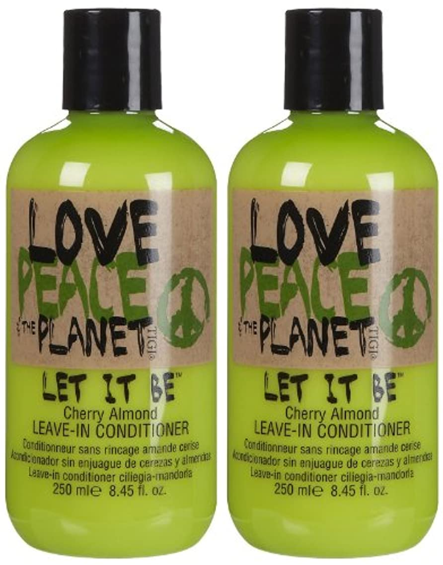 体やりがいのあるフォルダTIGI Love Peace and The Planet Let It Be Cherry Almond Leave-in Conditioner 250 ml (並行輸入品)