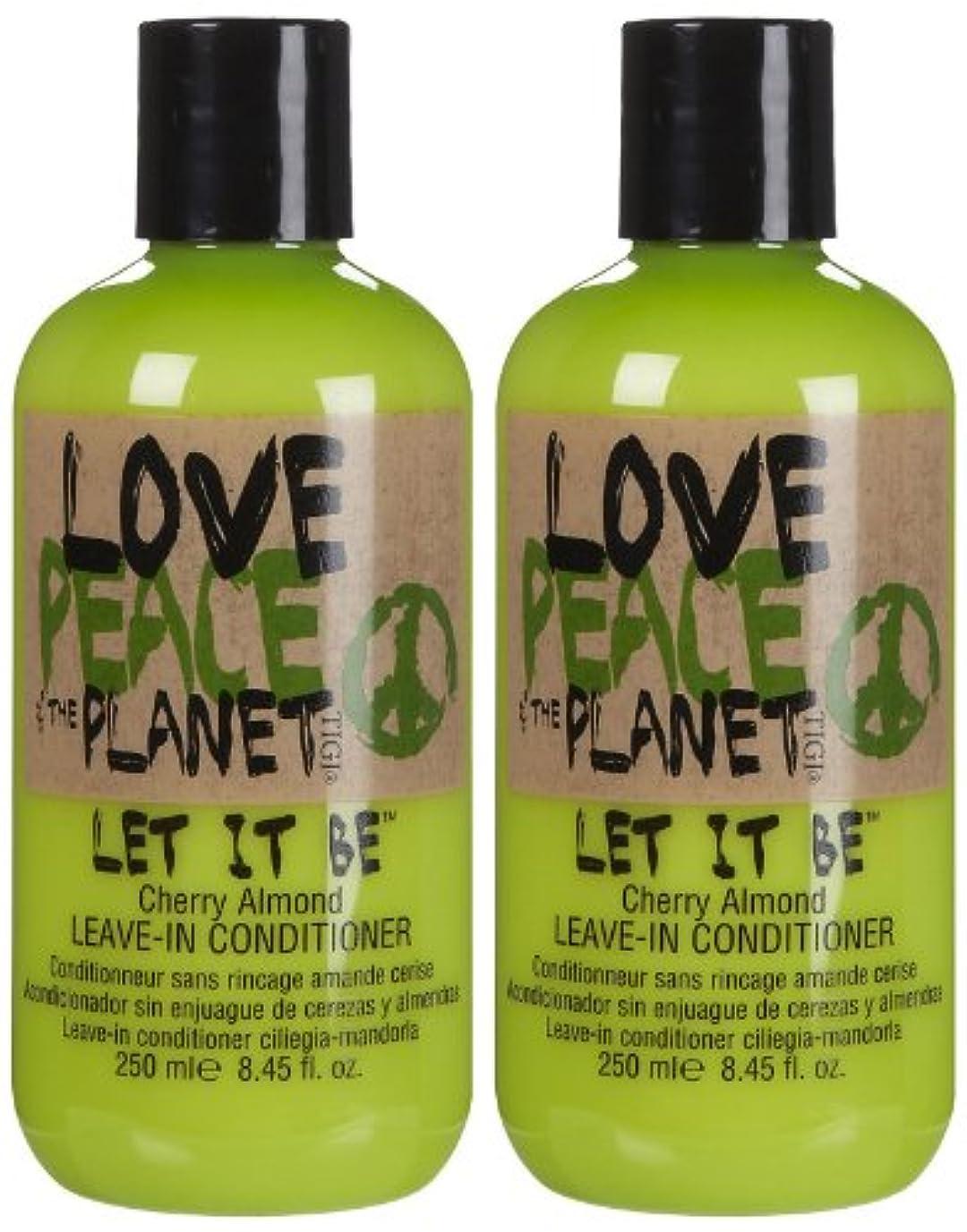 栄養起きろ徐々にTIGI Love Peace and The Planet Let It Be Cherry Almond Leave-in Conditioner 250 ml (並行輸入品)