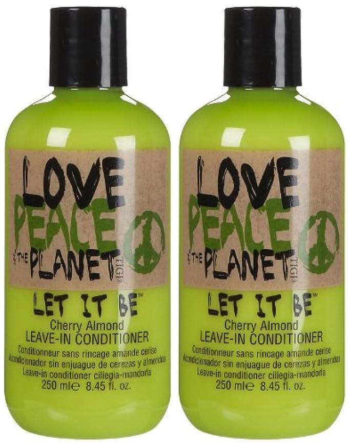 ストレージ世界記録のギネスブックベースTIGI Love Peace and The Planet Let It Be Cherry Almond Leave-in Conditioner 250 ml (並行輸入品)