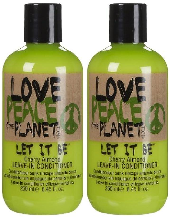 メトリック海嶺風が強いTIGI Love Peace and The Planet Let It Be Cherry Almond Leave-in Conditioner 250 ml (並行輸入品)