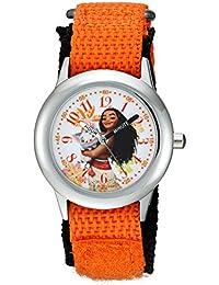 ディズニーGirl 's ' Moana ' Quartzステンレススチールand Nylon Casual Watch , Color :オレンジ(モデル: wds000035 )