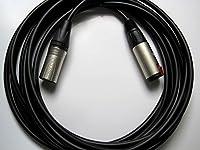 NXS003-BS2(XX) (CANARE) 変換・延長ケーブル 30cm ステレオフォンメス-キャノンオス 黒/ブラック シルバープラグ