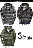 Men's Thin-Stripe Zip Hoodies (3色) (117962052) (S,M,L,XL) オールドネイビー画像②