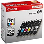 Canon 純正 インク カートリッジ BCI-351(BK/C/M/Y/GY)+BCI-350 6...