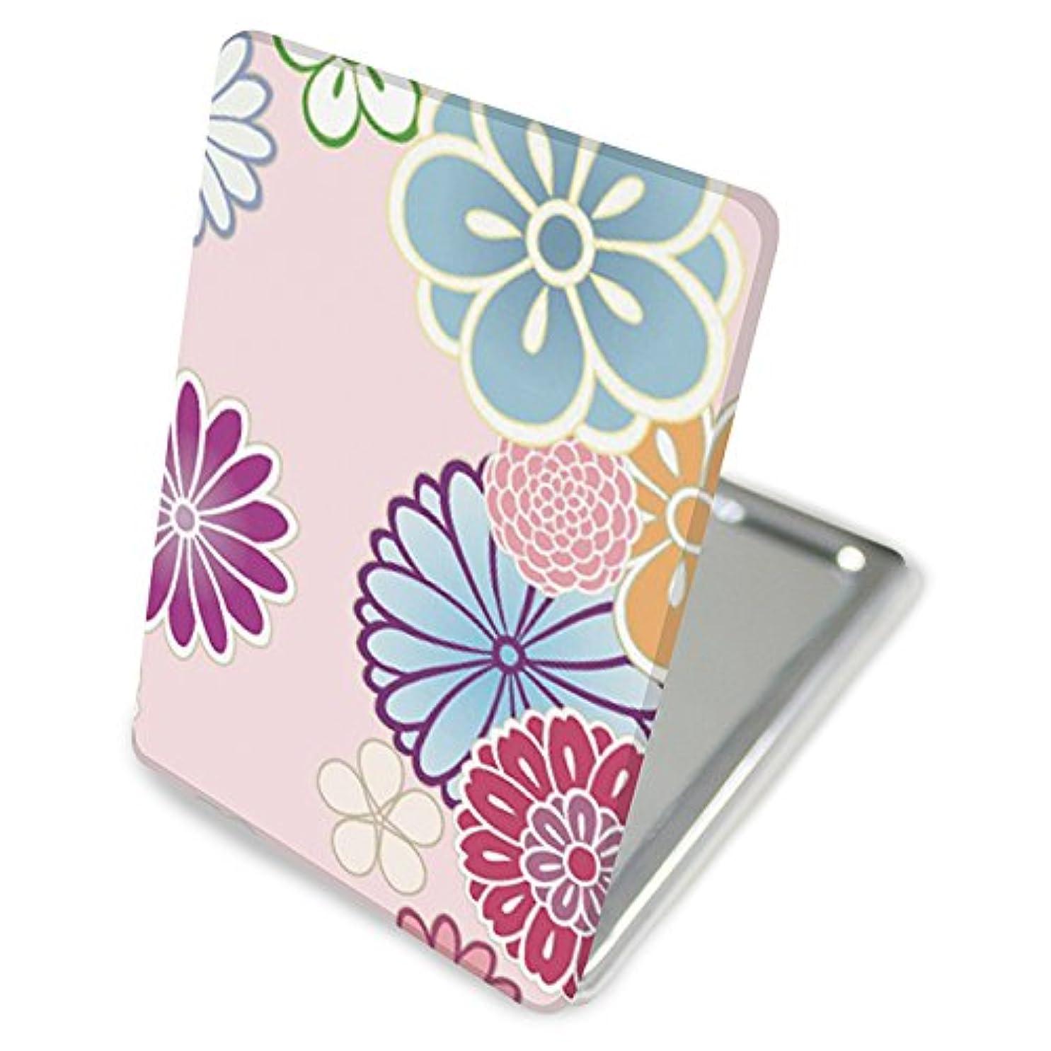 憂慮すべきエキスパート(カリーナ) Carine 手鏡 コンパクトミラー ハンドミラー 拡大鏡付 持ち歩きに便利 かわいい kgm014(A) 花柄 フラワー デザイン 和柄 和風 和花