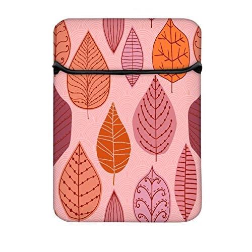 Snoogg Colorful Leaves 12インチラップトップコンピュータカバーケースフリップスリーブバッグ