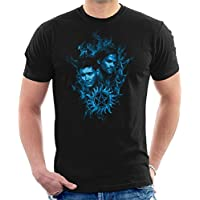 Cloud City 7 Sam and Dean Blue Flame Supernatural Men's T-Shirt