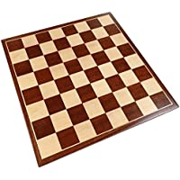 Erebus Chess Board with Inlaid Mahogany Wood - Board Only - 13 Inch