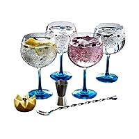 Luminarc Fiesta Combinados Cocktail Party Set, 6 Pieces, Gin Colour