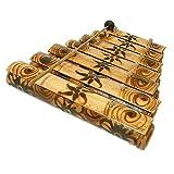 アジアの楽器 バンブーの竹琴 ガムラン 焼き模様 アジアン雑貨