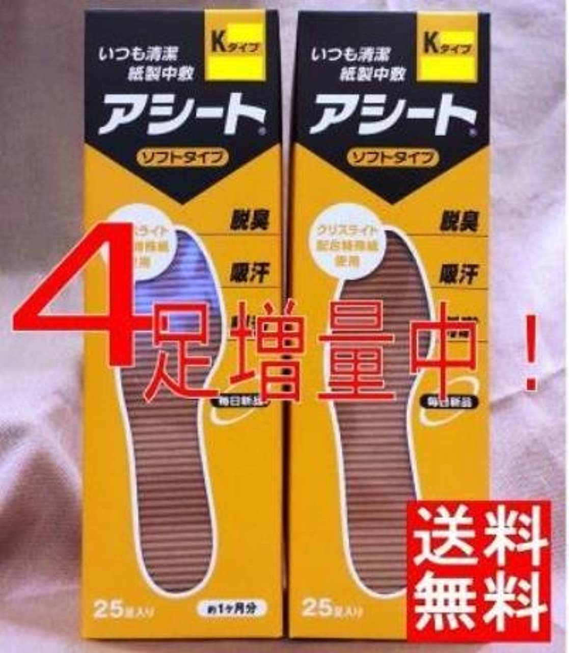 防腐剤一見習いアシートK(サイズ25cm)×2箱セット(4足増量中)