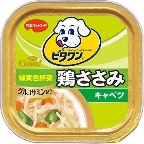 日本ペット ビタワングー 鶏ささみ キャベツ 100g