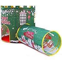子供用 プレイテント クリスマステーマ テント 男の子 女の子 3歳以上 赤 緑 2色 屋内 環境 toy-087669-us