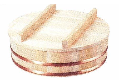 小柳産業 国産 すし飯台蓋付(木曽さわら材) 直径39cm(約1升) 60016