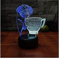 Xbwy 7色のギフト3Dビジュアルナイトライトバレンタインデーのギフト照明器具
