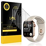 [6 Pack] LK for Apple Watch Screen Protector 40mm 38mm (Series 4/3/2/1 Compatible), Full Coverage Flexible Film with Lifetime Replacement Warranty