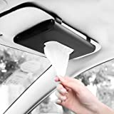 Fredysu Car Visor Tissue Holder, Car Tissue Dispenser Hanging Paper Towel Holder Case for Car Seat Back and Vehicle Side Door