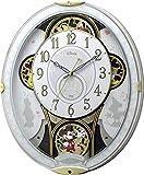 リズム時計 Disney 電波からくり掛け時計 ミッキー&フレンズM509 ホワイト 4MN509MC03