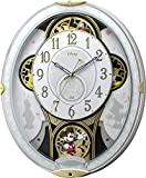 Disney ( ディズニー ) 電波 からくり キャラクター 掛け時計 アナログ ミッキー & フレンズ M509 白 リズム時計 4MN509MC03
