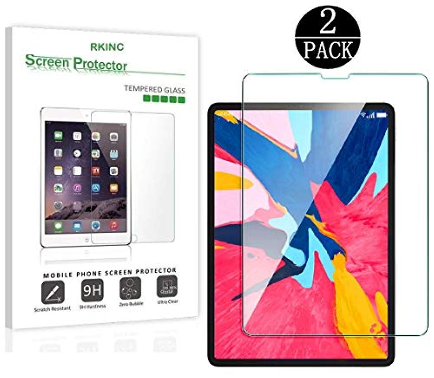 パターン近傍バルセロナRKINCスクリーンプロテクター にとってApple iPad Pro 11 2018 、[2パック] 強化ガラスクリアスクリーンプロテクター[9H硬度] [2.5Dラウンドエッジ] [スクラッチレジスト] にとってApple iPad Pro 11 2018