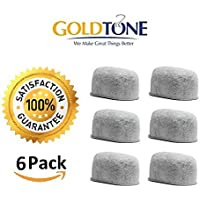 GoldTone (TM) Brand Replacement Charcoal Water Filter Cartridges for Keurig Classic and 2.0 Coffee Maker Machines - 6 Pack [並行輸入品]