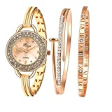 フーポット 腕時計 レディース/ガールズ ブレスレット腕時計 ファッションエレガントな女性腕時計 カジュアル時計 レディース クォーツ腕時計 ブレスレット ブレスレットウォッチ カジュアル時計 人気誕生日 プレゼント ゴールド