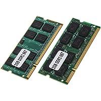 SODIAL(R) 2x 2GB DDR2 PC2-5300 SODIMM RAM メモリ 667MHz 200ピン ノートブック ラップトップのため